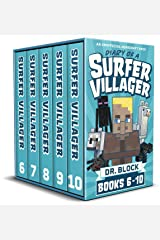 Diary of a Surfer Villager, Books 6-10: (a collection of unofficial Minecraft books) (Complete Diary of a Minecraft Villager Book 2) Kindle Edition