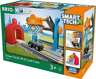 BRIO 33827 World-Smart Tech Railway-Harbour Crane, Multicoloured