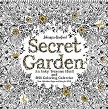Secret Garden 2018 Wall Calendar: An Inky Treasure Hunt and 2018 Coloring Calendar