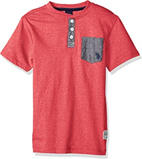 Boys' Short Sleeve Solid Henley T-Shirt
