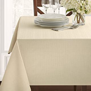 Textured Fabric Tablecloth, Flax, 60