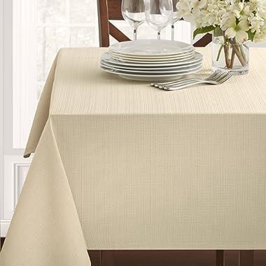 Benson Mills Textured Fabric Tablecloth (60 X 104, Flax)