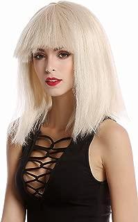 Perruque dames perruque Carnaval Halloween Longue Lisse poney bleu blanc disco glam