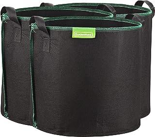 GardenMate 3X 30L Bolsas de Tela no Tejida para Plantas - Altura 30,5 cm Ø 35,6 cm - GREENLINE