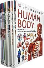DK Eyewitness Collection 16 Books Set (Human Body,Ocean,Volcano & Earthquake,Animal,Planets,Periodic Table,Dinosaurs,Mytho...