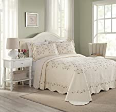 Modern Heirloom Collection Felisa Cotton Filled Bedspread, King, 120 by 118-Inch