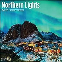 2021 Northern Lights Wall Calendar by Bright Day, 12 x 12 Inch, Aurora Borealis