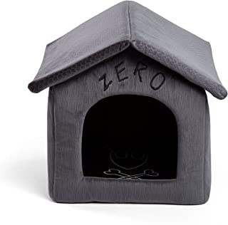 Disney Nightmare Before Christmas Zero Portable Pet House Dog Bed / Cat Bed with Detachable Top, Embroidery, Machine Washable, Dirt/Water Resistant Bottom (Available in two sizes)