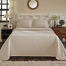 مفرش سرير مائي من القطن جاكار مطبوع عليه Fleur-de-Lis فائق الجودة مع أغطية وسائد، كتان