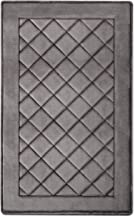 MICRODRY ExtraThick SoftLux Charcoal Infused Diamond Embroidered Memory Foam Bath Mat with GripTex Skid Resistant Base (2...