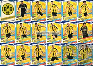 2016/17 MATCH ATTAX CHAMPIONS LEAGUE BORUSSIA DORTMUND TEAM SET 18 CARDS