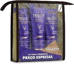 3 Piece Violet Toning Kit for Blonde Hair - Shampoo 280ml, Conditioner Cream 250ml, Intensive Moisturizing Cream 250ml for Advanced Hydration and Repair - Professional Trivitt by Itallian Hairtech