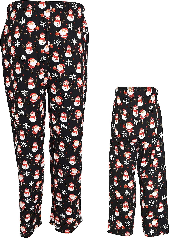 UB Christmas Santa Print Matching Family Pajama Pants