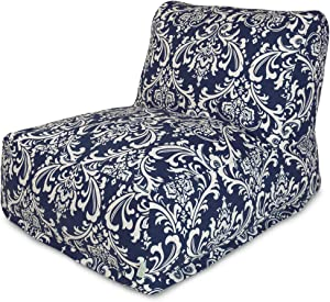 Majestic Home Goods French Quarter Bean Bag Chair Lounger, Navy Blue