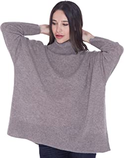 100% Cashmere Turtleneck Sweater for Women Oversize Pullover