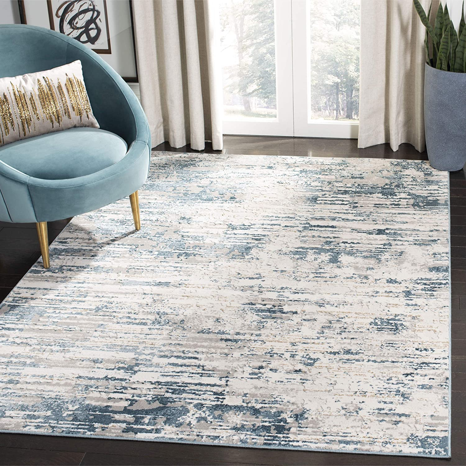 SALENEW very popular Safavieh Vogue Collection VGE145A Modern Area It is very popular Rug x 9' Abstract