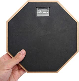 """Asmuse Drum Practice Pad 8"""" de práctica almohadilla de batería Transporte para Entrenamiento-Gris"""