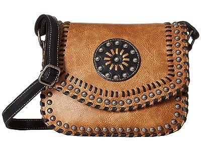 M&F Western Vanessa Crossbody Bag (Brown) Cross Body Handbags