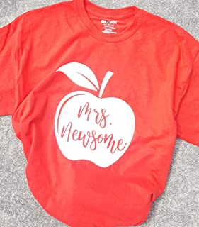 Personalized Apple Teacher Shirt Back To School Teacher