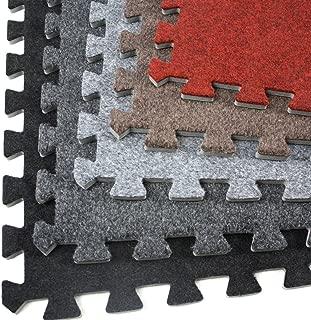 IncStores Eco-Soft Carpet Foam Tiles (Dark Grey - 6 Tiles)
