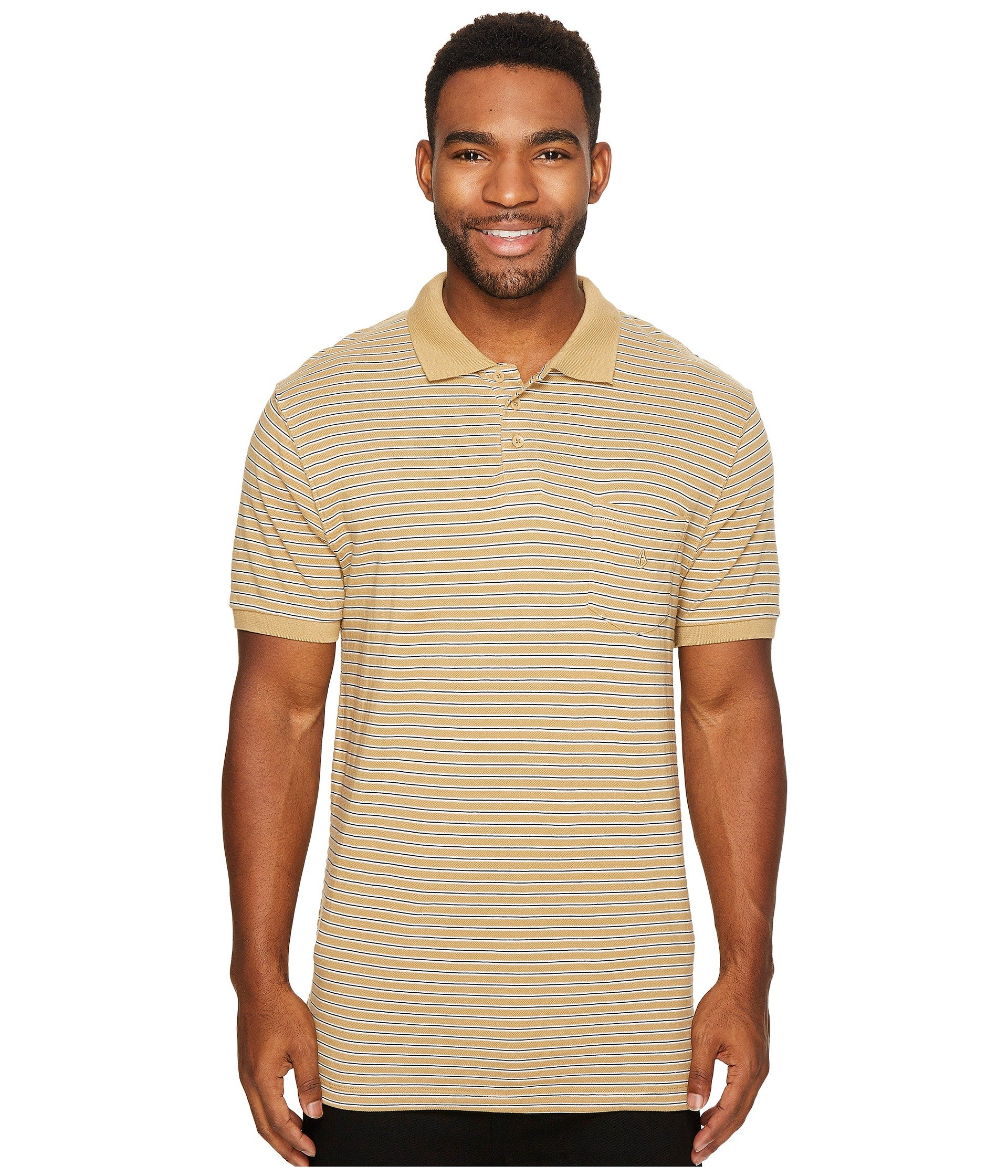 Camiseta Tipo Polo para Hombre Volcom Wowzer Stripe Polo  + Volcom en VeoyCompro.net
