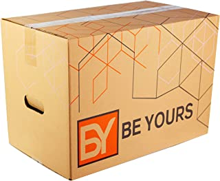 comprar comparacion BY BE YOURS Pack de 10 Cajas Carton Mudanza Grandes con asas - 500x300x300 mm en Cartón Doble - Cajas Mudanza Ultra Resist...