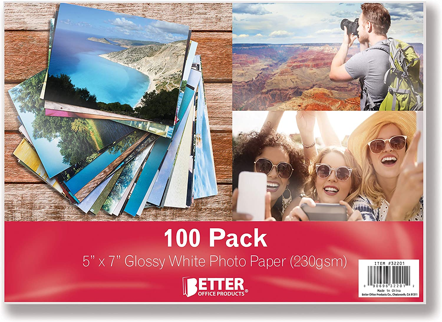 Glossy Photo Paper 5 x 7 inch by Sheets Better 100 Max 41% OFF Cheap mail order sales Pro Office
