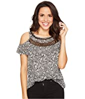 Lucky Brand - Cold Shoulder Crochet Top