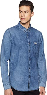 US Polo Association Men's Solid Slim fit Casual Shirt