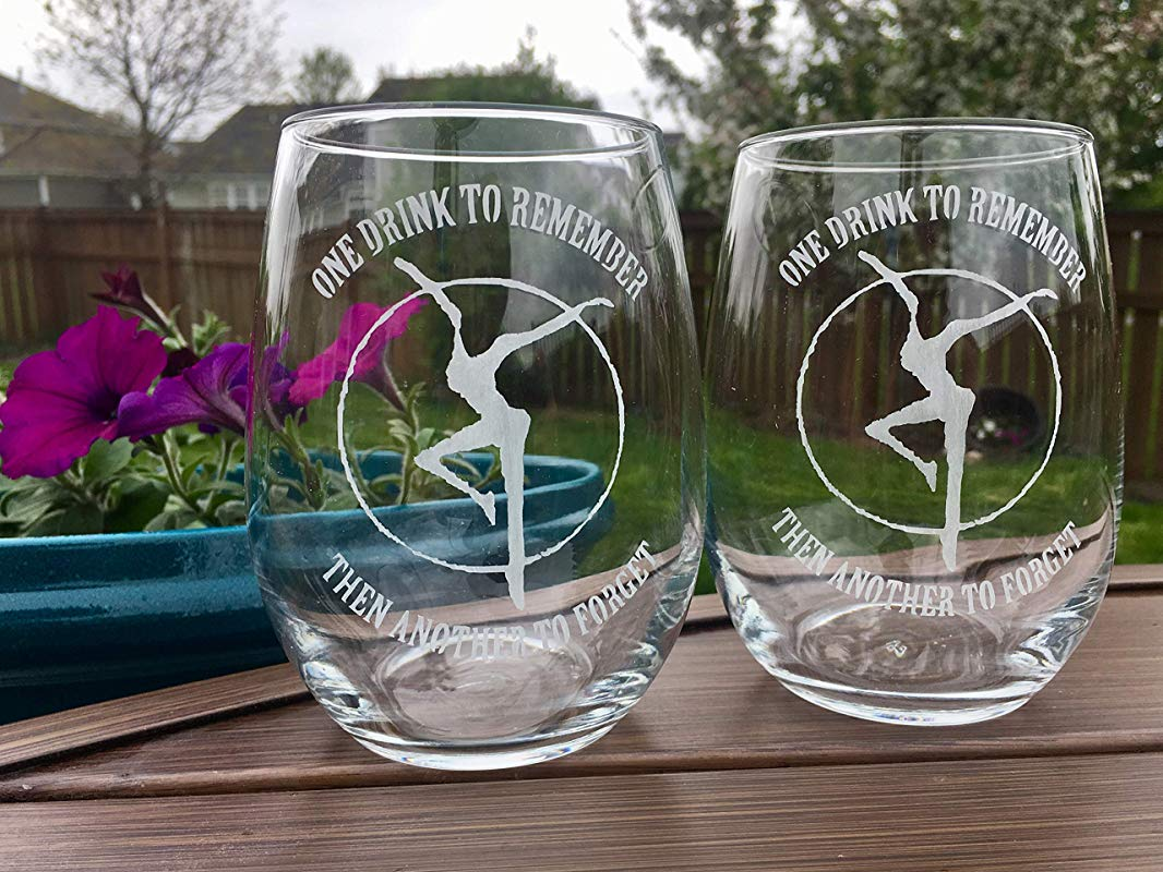Etched DMB LARGE Stemless Wine Glasses Set Of 2 Bar Gift Dave Matthews Band Fathers Day CHRISTMAS