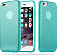Cadorabo – Luxurious Glitter TPU Hard Case Works with Apple iPhone 6 / 6S / 6G - Etui Skin Bumper Slim Case Silicone Protective Cover in Stardust-Turquoise