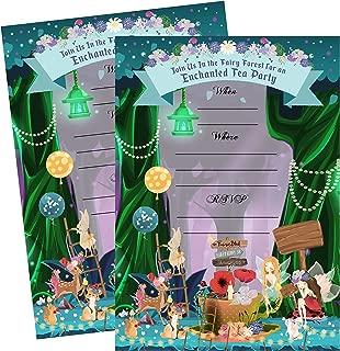 Enchanted Fairy Forest Garden Tea Party Invitations Supply Decoration Decor (Invite)
