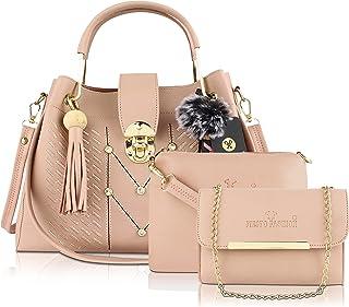 FIESTO FASHION Latest Women's & Stylish PU Leather Handbags Set Of (3)