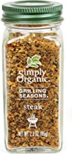 Simply Organic Grilling Seasons Steak Seasoning, 2.3 Ounce