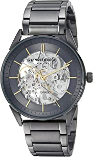 Kenneth Cole New York Men's  Automatic  Stainless Steel Case with  Genuine Leather Strap Casual Watch (  KC50192004/07/06/05/02/01)