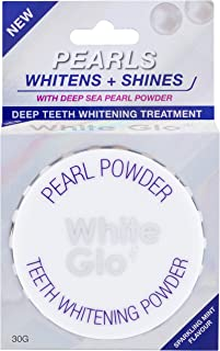 White Glo Pearls Teeth Whitening Powder With Deep Sea Pearl Powder, Whitens and Shines By Polishing and Removing Stains Ge...