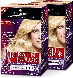 Schwarzkopf Keratin Color Permanent Hair Color Cream, 12.0 Light Pearl Blonde (Pack of 2)