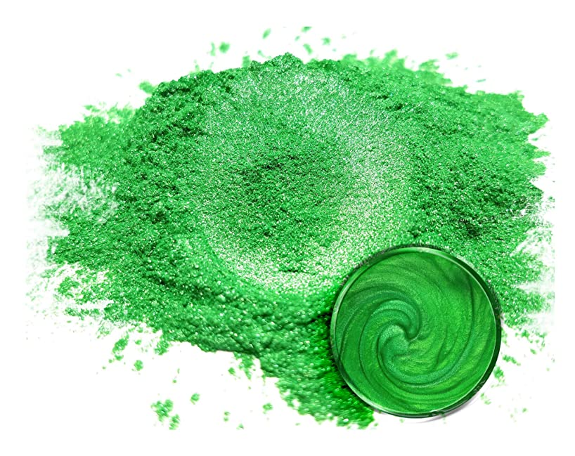 "Mica Powder Pigment ""Imperial Jade"" (50g) Multipurpose DIY Arts and Crafts Additive | Natural Bath Bombs, Resin, Paint, Epoxy, Soap, Nail Polish, Lip Balm"