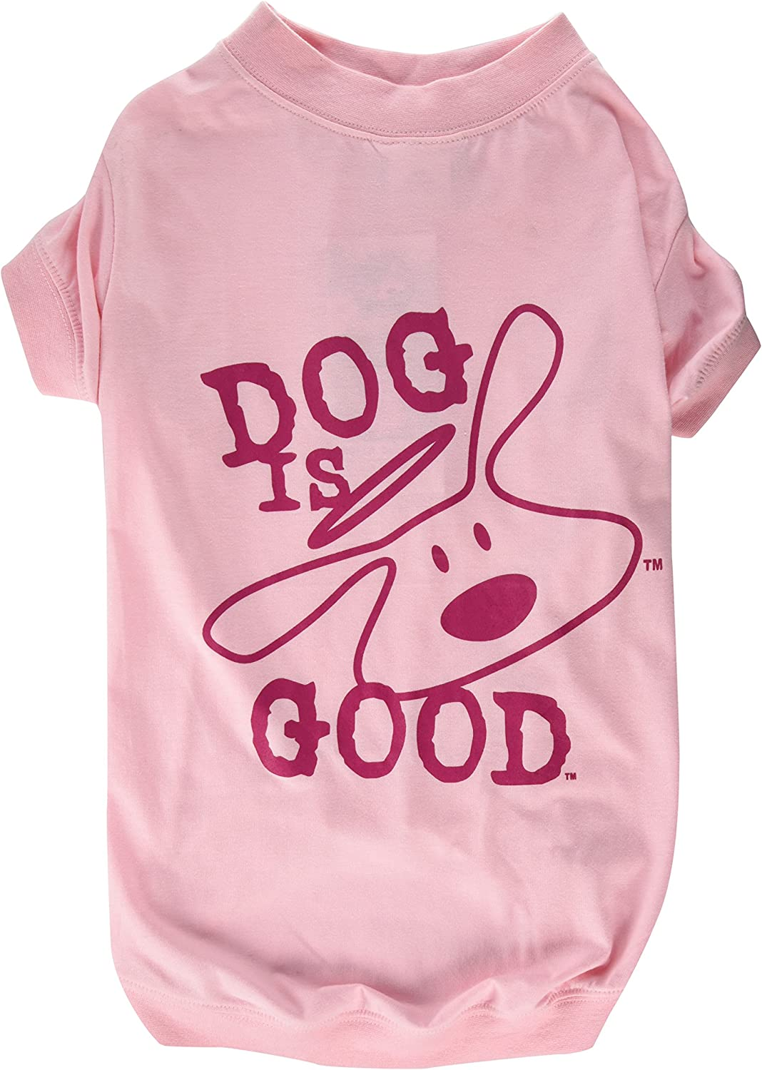 DogIsGood Solid Bolo Tee for Dogs, Large, pink Shadow
