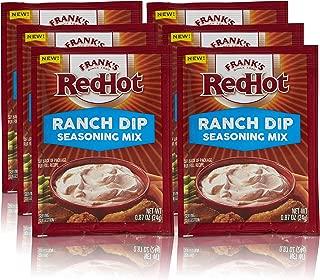 Frank's RedHot Ranch Dip Seasoning Mix, 0.87 oz (Pack of 6)