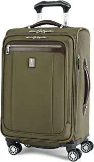 Platinum Magna 2 Carry-On Expandable Spinner Suiter Suitcase, 21-in., Olive
