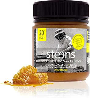 Steens UMF 20 Manuka Honey (MGO 829) 8.8 Ounce jar | Pure Raw Unpasteurized Honey From New Zealand NZ | Traceability Code on Each Label
