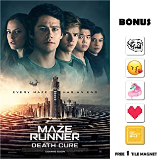 Movie Poster Maze Runner: The Death Cure (2018) - End - 13 in x 19 in Flyer Borderless + Free 1 Tile Magnet