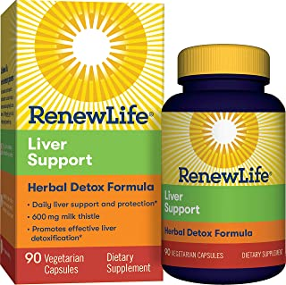 Renew Life - Liver Support Extra Care - Milk Thistle liver cleanse and detox supplement - 90 vegetable capsules