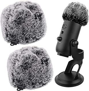 Furry Windscreen Muff Compatible with Blue Yeti, Mic Cover Wind Shield, Microphone Covers for Dubbing Interviews Live Reco...