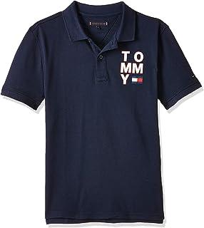 Tommy Hilfiger Boy's Graphic F/B Short Sleeve Polo