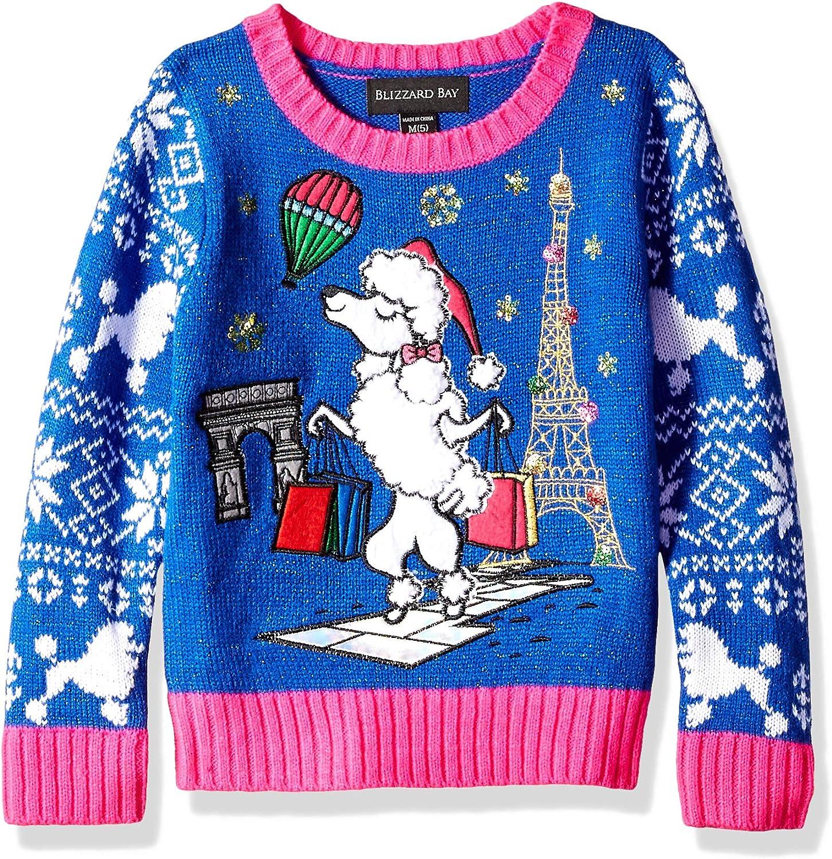 Blizzard Bay Girls Ugly Christmas Sweater Dog