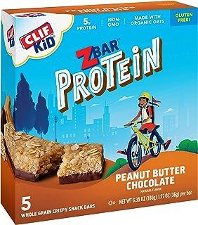 CLIF KID ZBAR - Protein Granola Bars - Peanut Butter Chocolate Flavor - Non-GMO - Organic -Lunch Box Snacks (1.27 Ounce En...