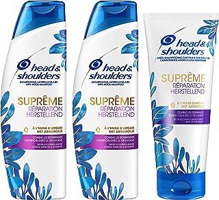 Head & Shoulders Shampoing et Après Shampoing Antipelliculaire Suprême Réparation pour Cheveux Abimés à l'Huile d'Arga...