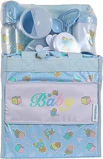 Big Oshi Baby Essentials 13 Piece Diaper Bag Feeding Newborn Gift Set, Blue, One Size
